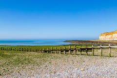 Paysage côtier du Sussex sur Sunny Summers Day photos libres de droits