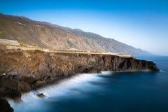 Paysage côtier - La Palma, Puerto de Naos photo stock