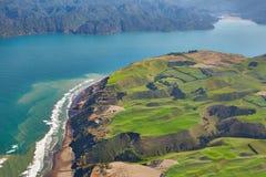 Paysage côtier aérien Photographie stock libre de droits