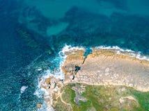 Paysage côtier d'océan de vue aérienne Photographie stock libre de droits