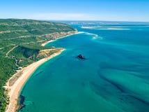 Paysage côtier d'océan de vue aérienne de parc naturel Photos libres de droits