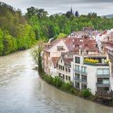 Paysage côtier de vieille ville de Berne Photo libre de droits