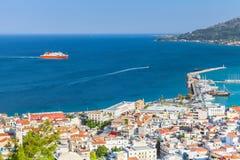 Paysage côtier de Zakynthos Images libres de droits