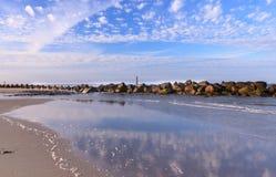 Paysage côtier la Caroline du Sud de plage de folie Photos libres de droits