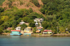 Paysage côtier tropical Photo libre de droits