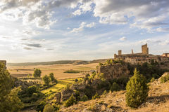 Paysage Calatanazor, Soria, Espagne Photos stock