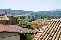 Paysage Capulalpam de Mendez Oaxaca, Mexique photographie stock libre de droits