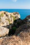 Paysage chez Algarve, Portugal Photographie stock libre de droits