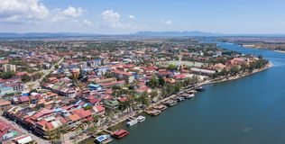 Paysage chez Kampot - le Cambodge images stock