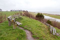 Paysage chez l'Oudemirdumer Klif photos libres de droits