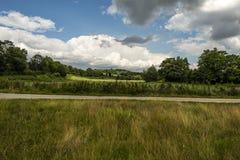Paysage chez Lullingstone Roman Villa, vallée de Darenth, Kent, Angleterre photographie stock