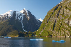 Paysage chez Tracy Arm Fjords en Alaska Etats-Unis Photos libres de droits