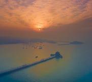 Paysage Chine de côte de Qingdao images stock