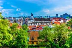 Paysage coloré dans la ville de Zagreb, Croatie Photos stock