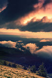 Paysage coloré dans les montagnes, voyage de l'Europe, monde de beauté Image libre de droits