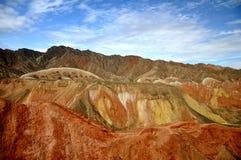 Paysage coloré de Danxia, paysage très beau Photo stock