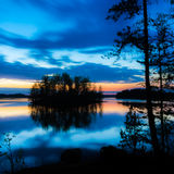 Paysage coloré de lac Image libre de droits