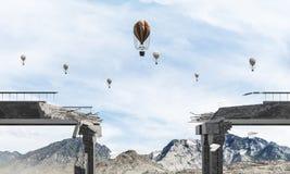 Paysage coloré de montagne d'été Images libres de droits