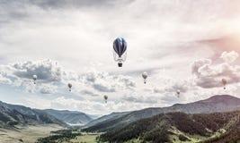 Paysage coloré de montagne d'été Image libre de droits