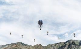 Paysage coloré de montagne d'été Photo libre de droits