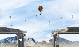 Paysage coloré de montagne d'été Image stock