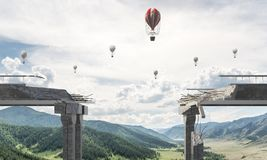 Paysage coloré de montagne d'été Photographie stock libre de droits