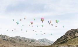Paysage coloré de montagne d'été Photographie stock