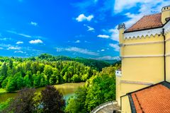 Paysage coloré en Croatie, lac Trakoscan Photo libre de droits
