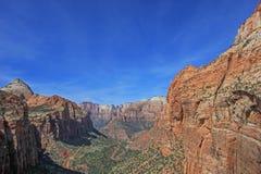 Paysage coloré et montagnes, Zion National Park, Etats-Unis Image stock