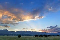 Paysage à Colorado Springs Photos libres de droits