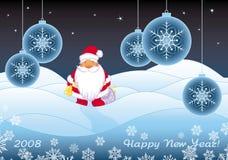 Paysage com Santa de vinda ilustração do vetor