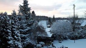 Paysage complètement de neige Images libres de droits