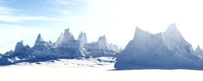Paysage congelé glacial illustration libre de droits