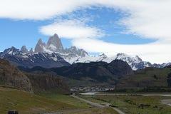 Paysage convenable de montagne de Roy de Chalten, Argentine Photo libre de droits