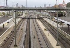 Paysage courbe de gare Images stock