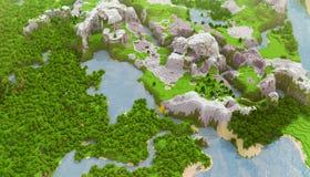 Paysage cubique Image libre de droits