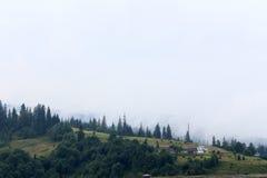 Paysage d'été avec de belles montagnes Photos stock