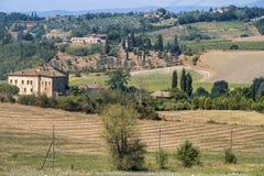 Paysage d'été dans la région Toscane de chianti images stock