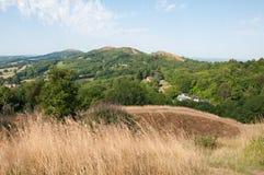 Paysage d'été dans les collines de Malvern dans la campagne britannique image libre de droits