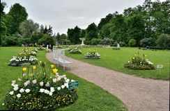 Paysage d'été dans Tarskoye Selo Photos stock