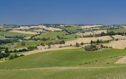 Paysage d'été en Marches Italie près d'Ostra Photographie stock