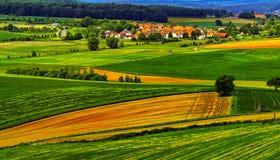 Paysage d'été près de Hanau, Allemagne images libres de droits