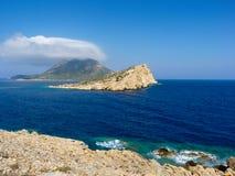 Paysage d'île d'Amorgos photographie stock