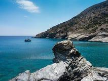 Paysage d'île d'Amorgos images libres de droits