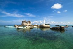 Paysage d'île de Belitung image libre de droits