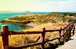 Paysage d'île de Jeju, Corée du Sud Photographie stock libre de droits