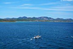 Paysage d'île de la Sardaigne, Italie Photos stock