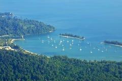 Paysage d'île de Langkawi, Malaisie Photographie stock libre de droits