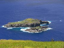 Paysage d'île de Pâques Photos libres de droits