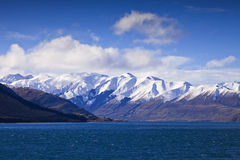 Paysage d'île du sud, Nouvelle-Zélande Image libre de droits